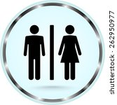 male and female sign icon ... | Shutterstock .eps vector #262950977