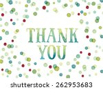 words thank you painted with... | Shutterstock .eps vector #262953683