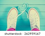 White Sneakers With Heart On...