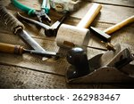the old working tool. many old... | Shutterstock . vector #262983467