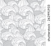 seamless pattern with sea waves. | Shutterstock .eps vector #262991933