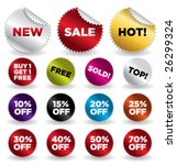 set of vector round stickers... | Shutterstock .eps vector #26299324