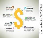 money infographic template... | Shutterstock .eps vector #262997447
