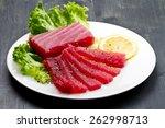 Slices Of Raw Bluefin Tuna ...