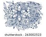 beautiful doodle art flowers....