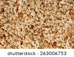 background  granola with... | Shutterstock . vector #263006753