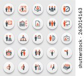 business and management icons... | Shutterstock .eps vector #263014163