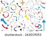 set of watercolor arrows | Shutterstock .eps vector #263019053