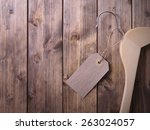 coat hanger with blank tag on... | Shutterstock . vector #263024057