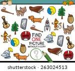 cartoon illustration of finding ... | Shutterstock . vector #263024513