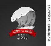 vector surfing illustration or... | Shutterstock .eps vector #263031413