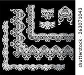 frame elements set   different... | Shutterstock .eps vector #263071043