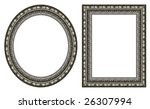 oval and rectangular silver... | Shutterstock . vector #26307994