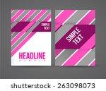 vector flyer design template... | Shutterstock .eps vector #263098073