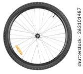 Front Wheel Of A Mountain Bike...