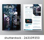 abstract vector brochure flyer... | Shutterstock .eps vector #263109353