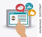 social media design  vector... | Shutterstock .eps vector #263119667