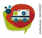 transportation ambulance flat... | Shutterstock .eps vector #263124287