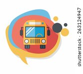 transportation bus flat icon... | Shutterstock .eps vector #263124947