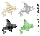 pixel art of hokkaido | Shutterstock .eps vector #263144057
