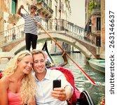 Selfie Couple In Gondola On...