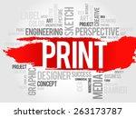 print word cloud concept   Shutterstock .eps vector #263173787