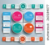 infographic design on the grey... | Shutterstock .eps vector #263184077