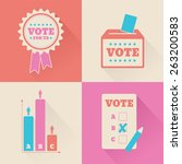 a set of voting graphics for an ... | Shutterstock .eps vector #263200583