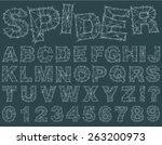 spider alphabet   Shutterstock .eps vector #263200973