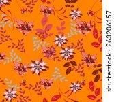 seamples flower illustration ...   Shutterstock .eps vector #263206157
