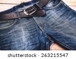 Detail Of Nice Blue Jeans With...