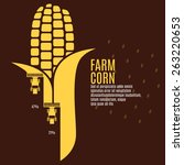 Farm Corn Vector Illustration