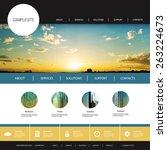 website design template for... | Shutterstock .eps vector #263224673