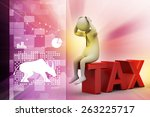 3d man in tax problem | Shutterstock . vector #263225717