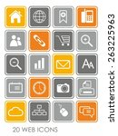 isolated web icons   Shutterstock . vector #263225963