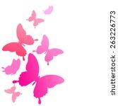 butterflies design | Shutterstock .eps vector #263226773