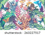 beautiful vintage seamless... | Shutterstock . vector #263227517