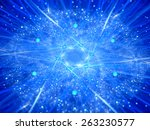 nuclear fission  glowing neon... | Shutterstock . vector #263230577