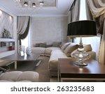 living room avangard style. 3d... | Shutterstock . vector #263235683