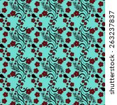 fantasy floral pattern on... | Shutterstock .eps vector #263237837