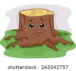 mascot illustration of a tree...