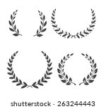 vector laurel wreaths. winner... | Shutterstock .eps vector #263244443