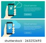cloud service concept web... | Shutterstock .eps vector #263252693
