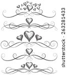 heart scroll work sketchy... | Shutterstock .eps vector #263281433