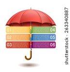 modern infographics option... | Shutterstock .eps vector #263340887