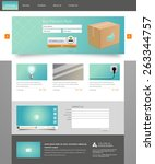 professional website template ... | Shutterstock .eps vector #263344757