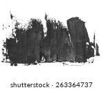 photo black grunge brush... | Shutterstock . vector #263364737