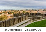 view of carcassonne from the... | Shutterstock . vector #263389703