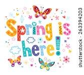 spring is here   Shutterstock .eps vector #263394203