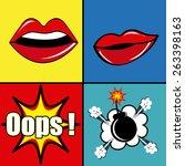 comic pop art colorful design ...   Shutterstock .eps vector #263398163